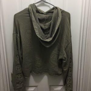 Victoria secret lace cropped hoodie